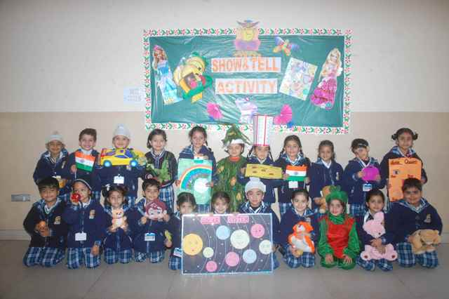 """INNOKIDS- the Pre- Primary wing  I H SShowed Their Talent in""""Show and Tell"""""""
