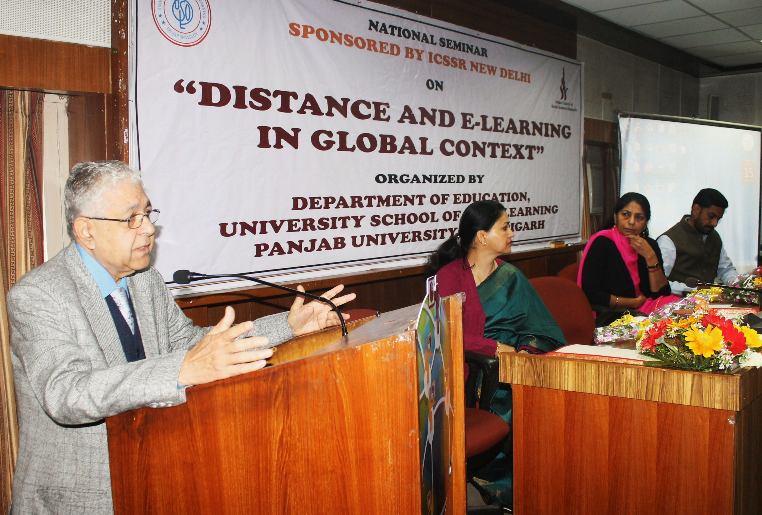 PU's USOL Deptt Chandigarh organises seminar on 'Distence  & E -Learning in Global Context'