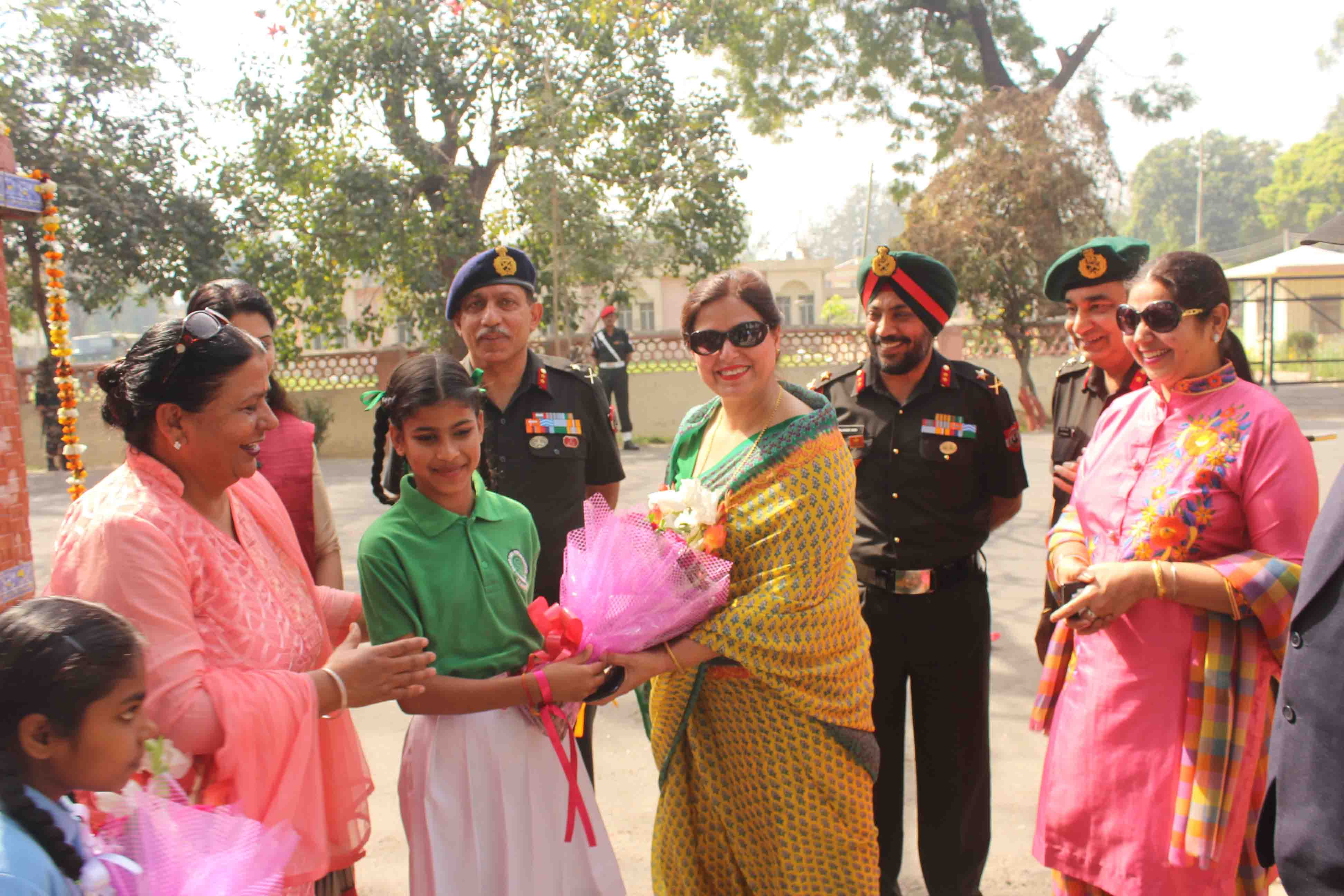 FLOWER SHOW ORGANISED AT JALANDHAR CANTONMENT