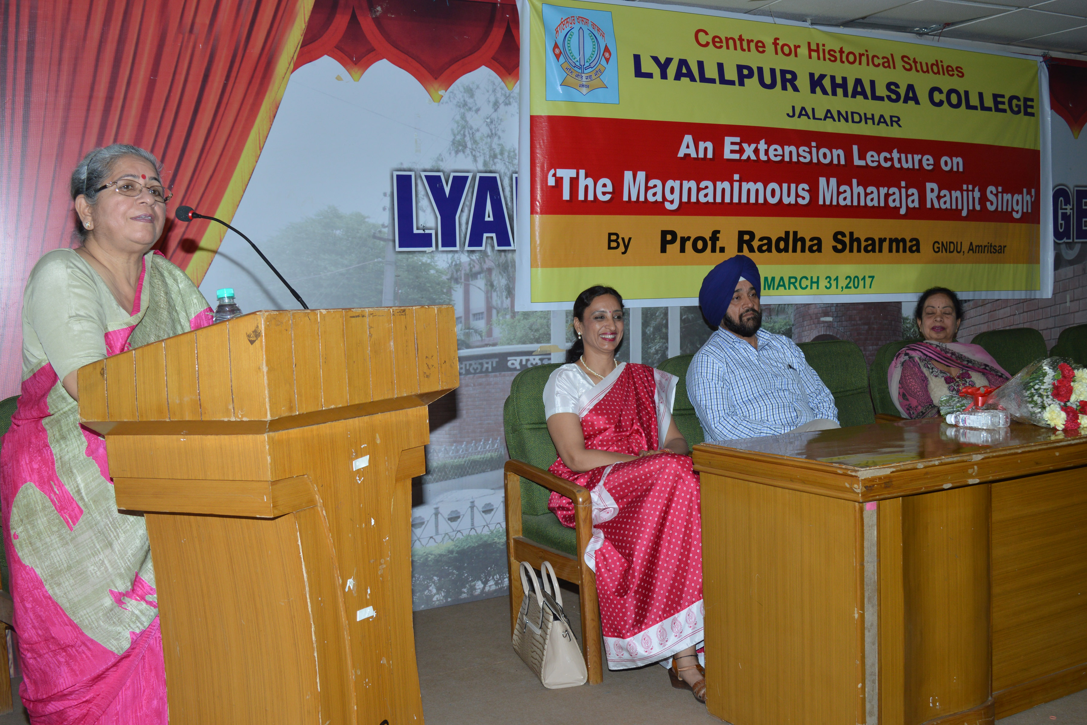 "LKC organize extension lecture on "" The Magnanimous Maharaja Ranjit Singh"""