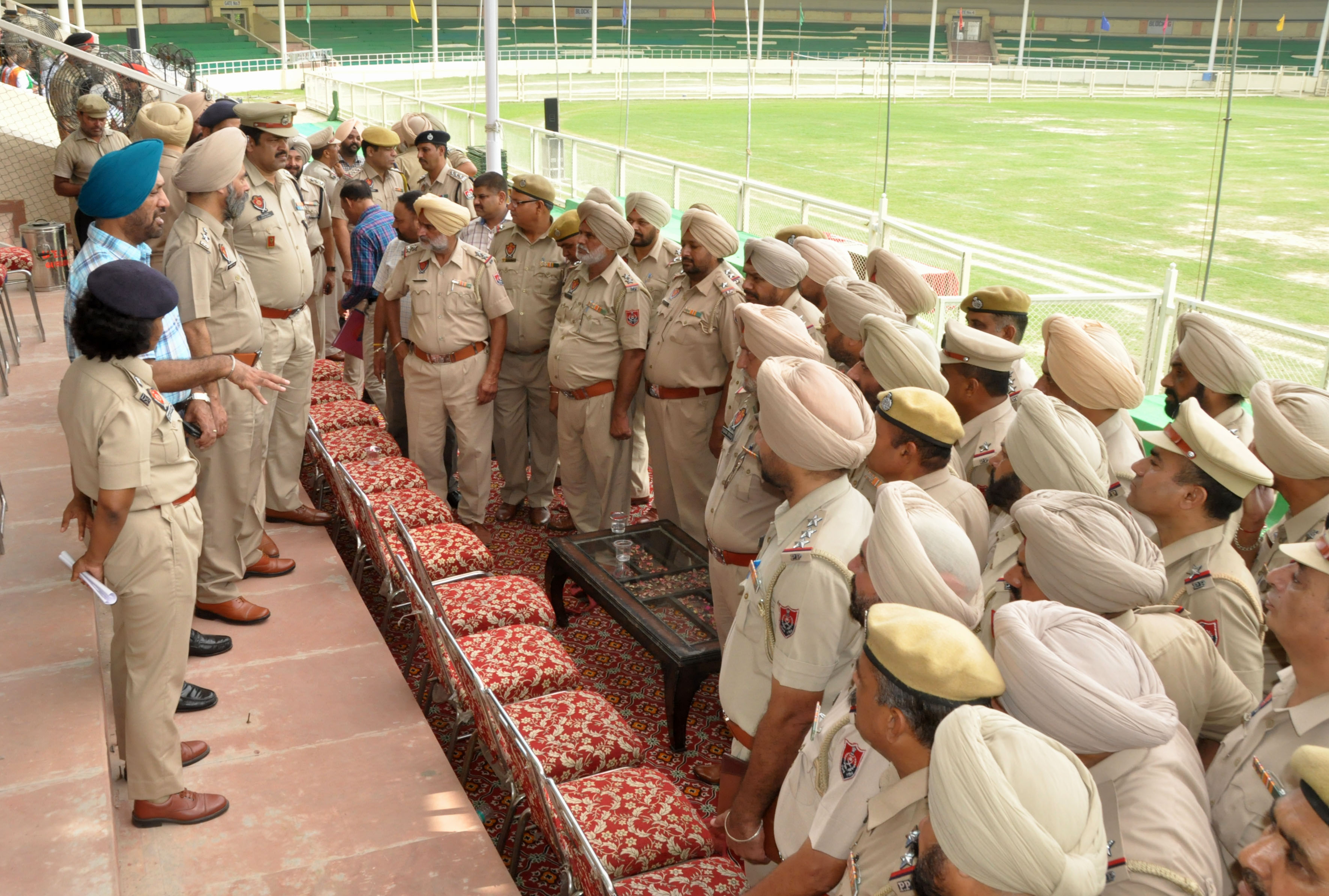 JALANDHAR COMMISSIONERATE POLICE MAKES ELABORATE SECURITY ARRANGEMENTS FOR INDEPENDENCE DAY CELEBRATIONS 800 POLICE OFFICIALS HAVE BEEN DEPLOYED TO KEEP A STRICT VIGIL IN WAKE CCTV CAMERAS INSTALLED AT STADIUM, NIGHT DOMINATION AND PATROLLING ENHANCED IN THE CITY