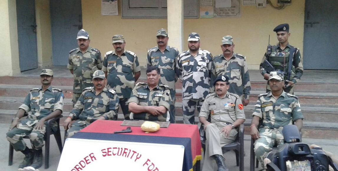 BSF seizes a Pistol packet of contraband Heroin from Border Out Post Momanpur, Ex-12 BN, BSF, Sector Gurdaspur