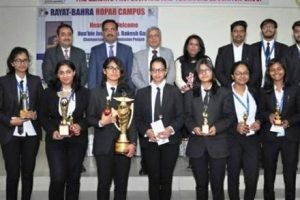 Army Institute of Law Mohali lift moot court trophy