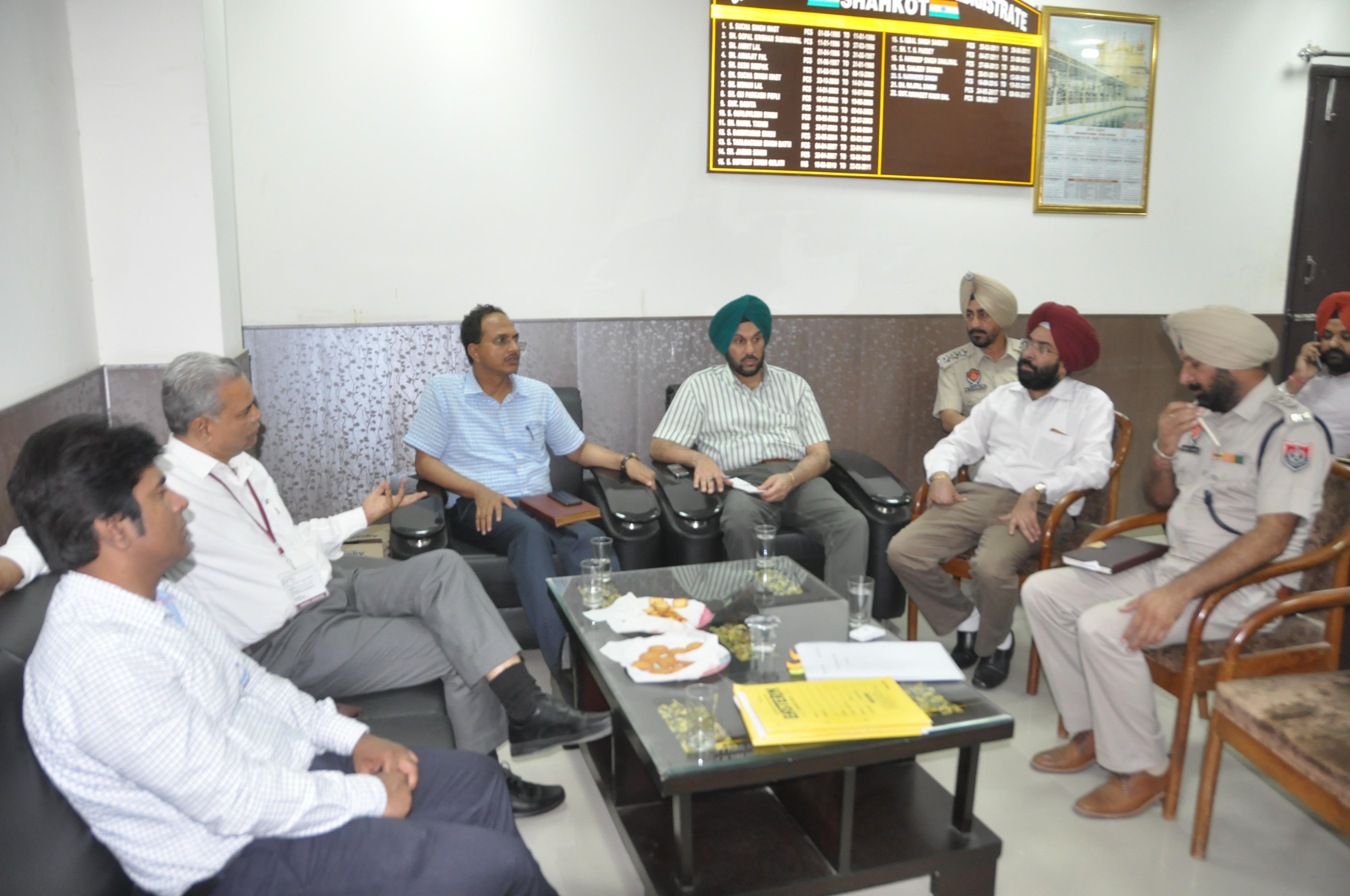 Observer, DC and SSP visits shahkot