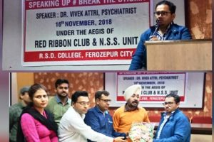 Red Ribbon Club organizes introductory session on Break the Stigma under Psychiatry Awareness Programme