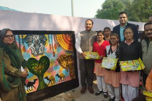 ADMINISTRATION HOLDS GRAFFITI COMPETITION TO SENSITIZE PEOPLE TOWARDS SWACHHTA AND TANDARUST PUNJAB MISSION
