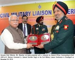 Haryana has a sizeable contribution in the armed forces of the Country,Manohar Lal