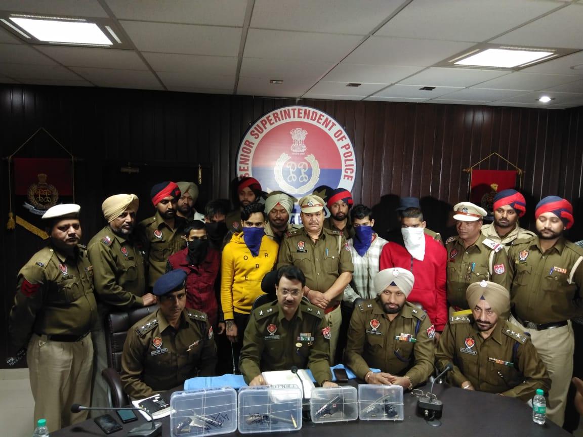 RURAL POLICE ARREST SIX MEMBERS OF SUKHA KAHLWAN GANG