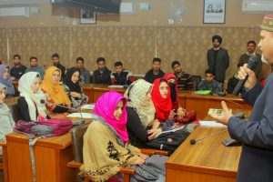 Panjab University  VC interacts with students from J&K