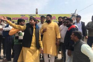 शिक्षा मंत्री के पुत्र ने किया 24 फरवरी को प्रस्तावित विकास रैैली स्थल का दौरा