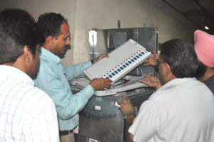 1622 EVMs AND VVPAT MACHINES DISPATCHED FOR KARTARPUR AND SHAHKOT ASSEMBLY SEGMENT AMIDST TIGHT SECURITY