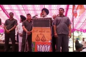 Sukhbir Badal starts his election campaign from a border village in Ferozepur