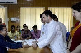 Rahul Gandhi files his nomination papers in Kerala