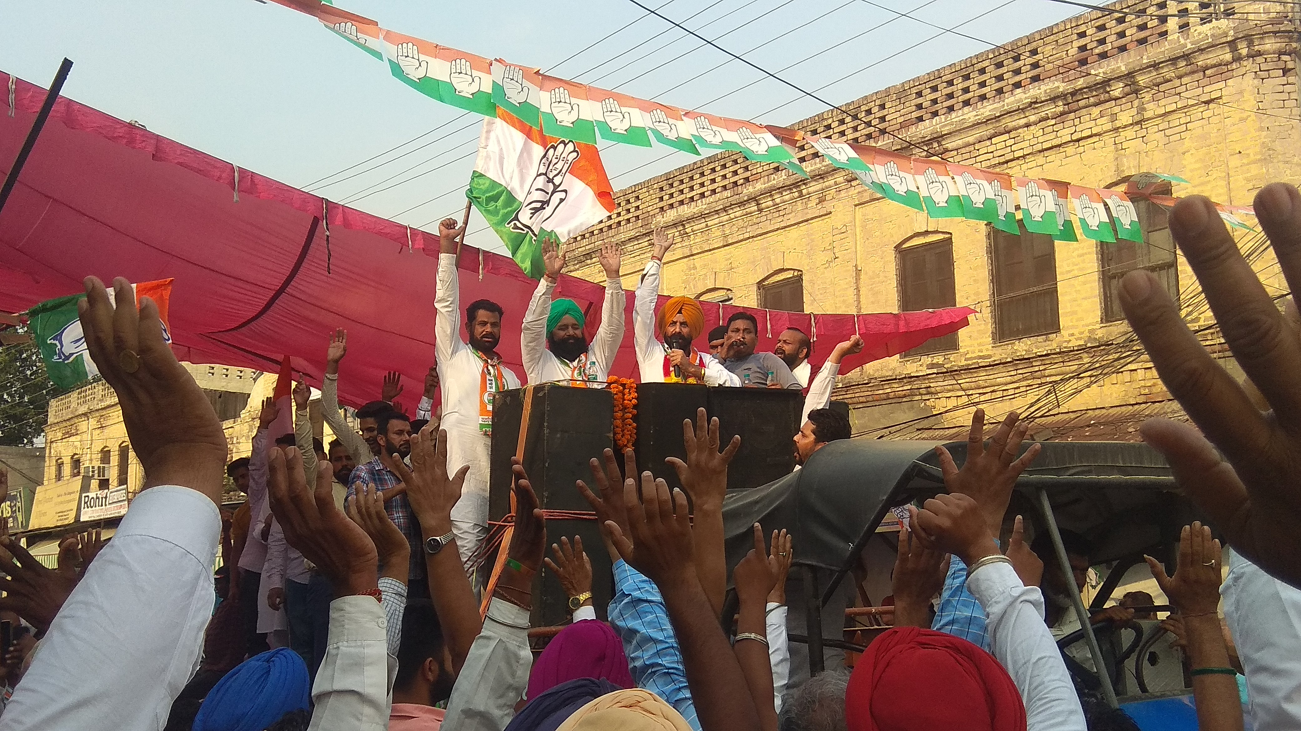 JUST TWO DAYS AHEAD OF POLLS, GHUBAYA HOLDS ROAD SHOW IN CITY AND CANTONMENT AREA