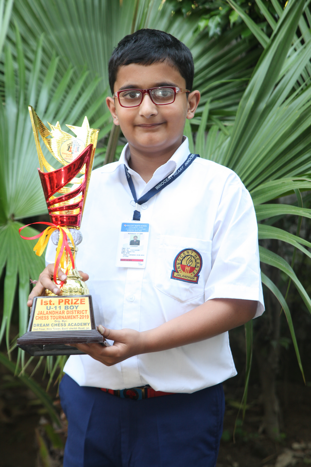 Utkrisht of Innocent Hearts has been selected for National Sub  Junior Chess Championship.
