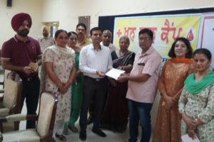 DISTRICT ADMINISTRATION WILL INITIATE SPECIAL AWARENESS DRIVE REGARDING BLOOD DONATION: DR. PRASHANT GOYAL