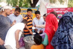 भारत विकास परिषद के प्रयास से लगाई आनंद रसोई
