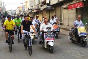 War on Drugs : Ferozepurians led by DC express solidarity against drugs in the Cycle Rally