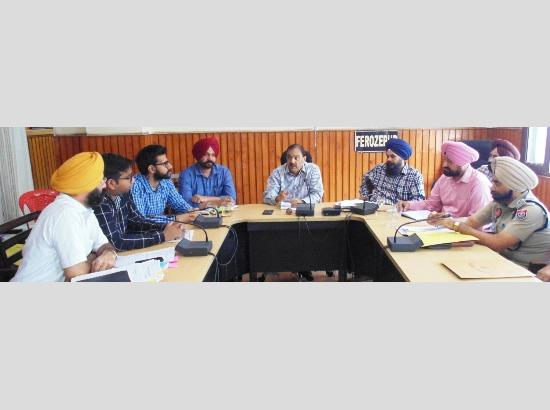 DC Ferozepur takes new initiative, appoints Nodal Officers to lead anti-drug drive
