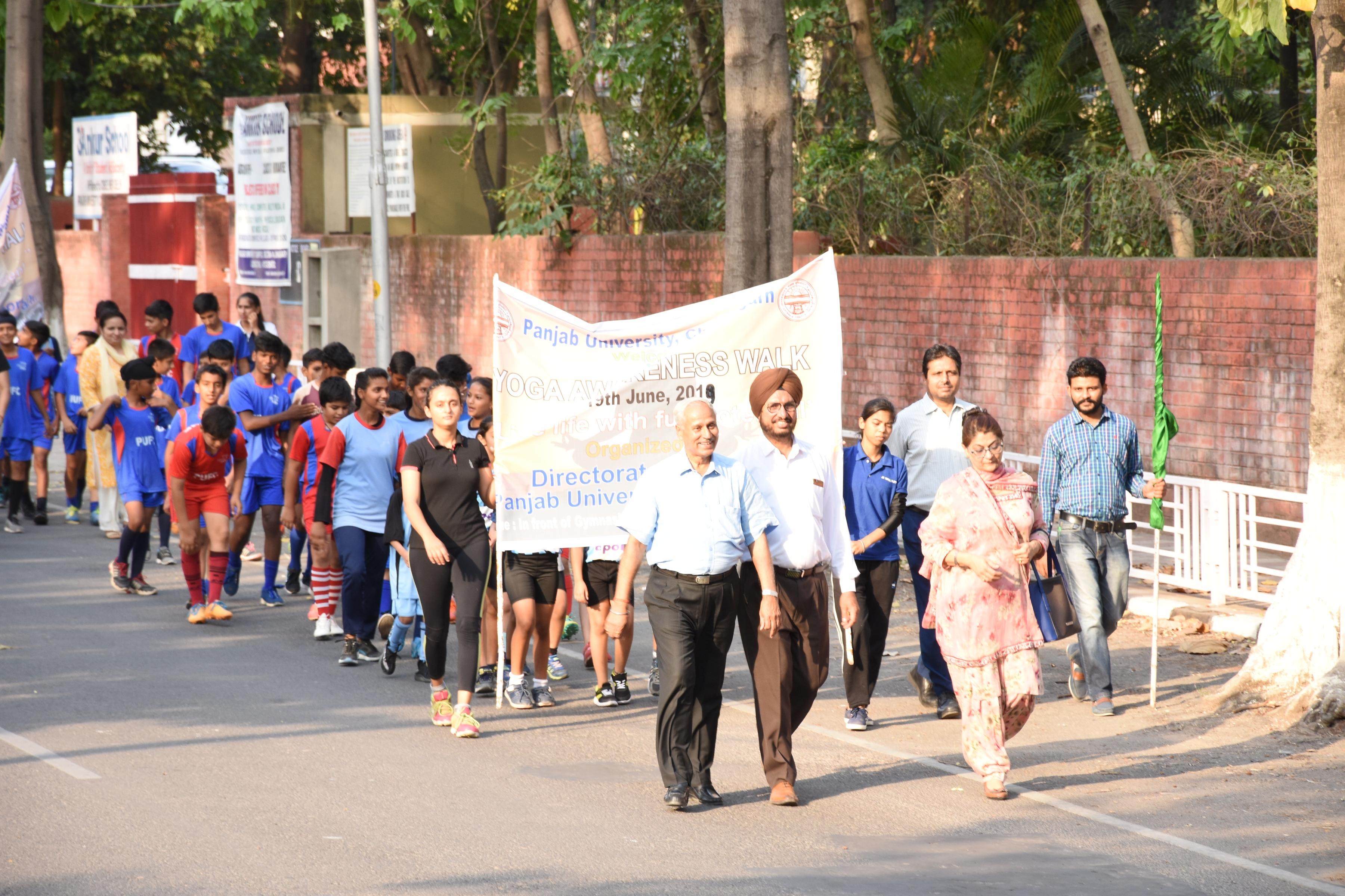 Panjab University, Chandigarh  to celebrate  internationalYoga Day on June 21, 2019, at Gymnasium Hall