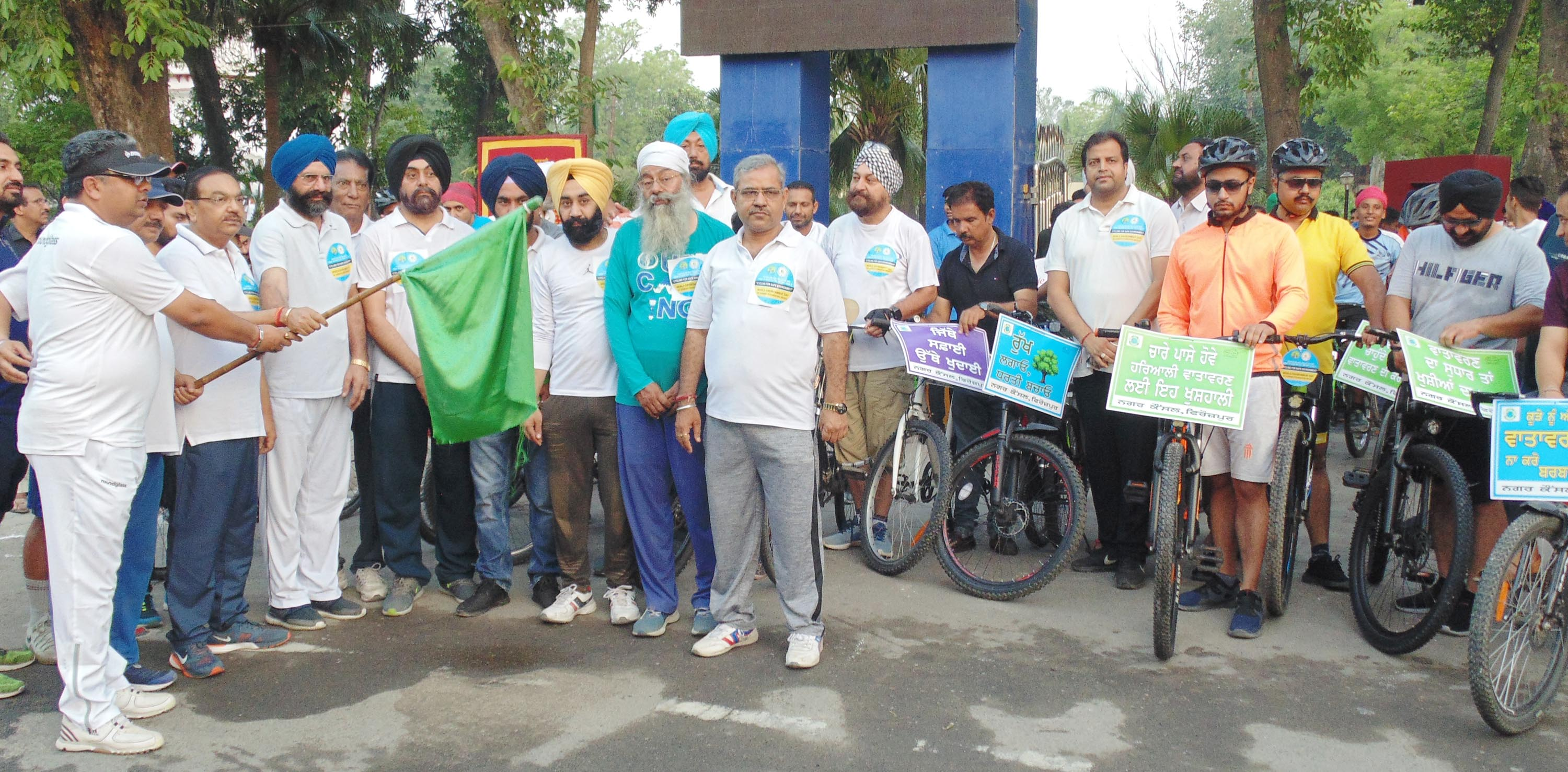 ON THE OCCASION OF WORLD ENVIRONMENT DAY, DC FEROZEPUR USE CYCLE, PLANTS TREE