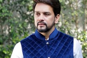 Anurag Thakur appeals admirers to greet him with books not flowers