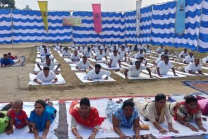 YOGA DAY CELEBRATED BY 114 BATTALION OF RAPID ACTION FORCE