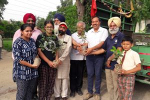 Forest department initiates plantation drive to commemorate 550th parkash Purab of Sri guru Nanak dev ji