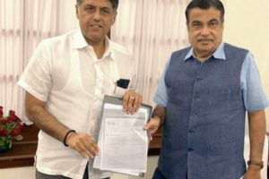 Gadkari assures Tewari on Banga-Naina Devi Road