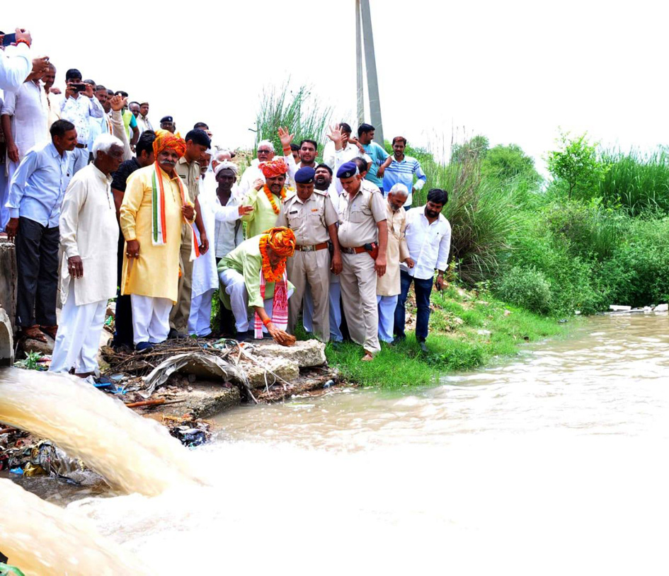 दोहान नदी में पानी छोड़े जाना अपने आप में एक इतिहास रचा गया है: शर्मा