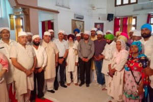 FLORAL TRIBUTES PAID TO CHAUDHARY JAGJIT SINGH ON HIS FOURTH DEATH ANNIVERSARY