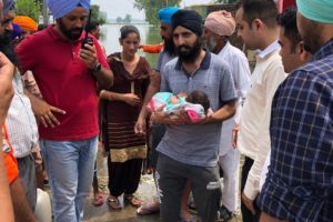 Village wise mobile boats started by district administration proves boon for three months old infant