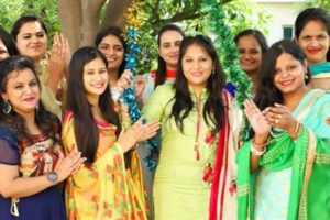 "Jovial Festival ""Teej"" celebrated at Aryans Group"