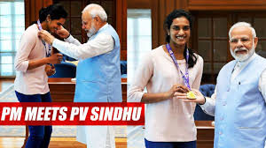 PM Modi meets champ Sindhu, calls her 'India's pride'