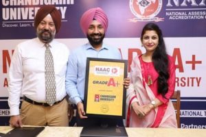 Chandigarh University Gharuan ranked 'A+' by NAAC