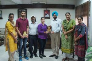 Gurwinder Kaur of Lyallpur Khalsa College secured 8th position in University