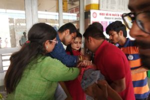 PULSE POLIO DRIVE COVERS 55635 CHILDREN ON THE FIRST DAY