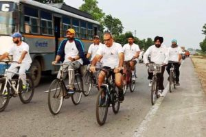 Cycle Rally on POSHAN, to eliminate health-related problems organized in Moga