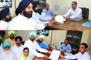 Candidates of Shiromani Akali Dal & AAP Party file nomination papers today