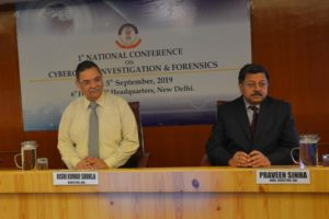 DIRECTOR CBI INAUGURATES 1ST NATIONAL CONFERENCE ONCYBERCRIME INVESTIGATION AND CYBER FORENSICS