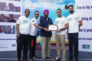Run for awareness at Sukhna Lake organised by GI Rendezvous to commemorate World Stroke Day