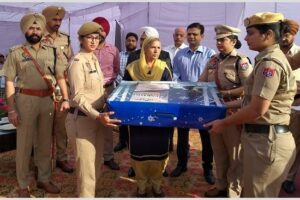 Police martyr remembered families honoured