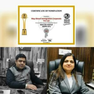 Way Ahead Immigration Corporate Pvt. Ltd gets nomination for India 500 Startup Award 2019