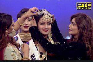 Kashmiri Girl Rehmat Rattan crowned Miss PTC Punjabi 2019