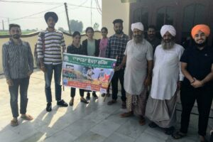 A rally against stubble burning by GNDU students