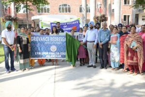 Lyallpur Khalsa College organize rally   seminar on  International Mental Health Day