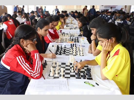 MDU Rohtak and University of Delhi takes lead in the points tally after 3rd round at AIU North-Zone Inter University Chess Tournament