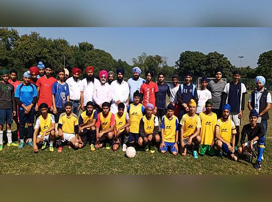 Sikh Football tournament to be held in Chandigarh also