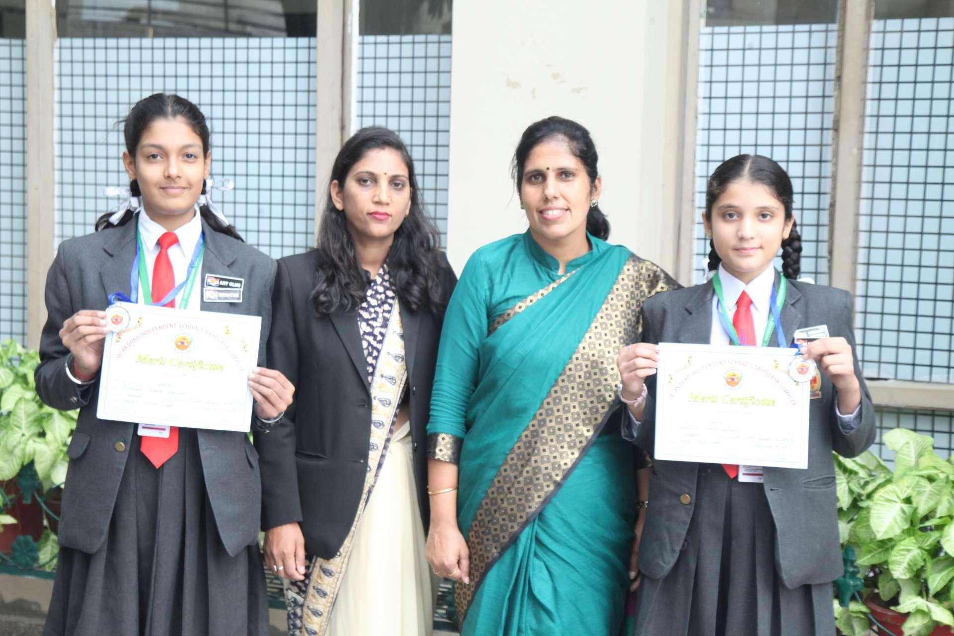 Innocentitesoutshone inSahodya Inter School Rangoli Competition