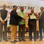 जल शक्ति राज्य मंत्री ने उपायुक्त को स्वच्छ सर्वेक्षण ग्रामीण पुरस्कार से किया सम्मानित
